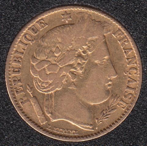 France 1851 A - 10 Francs Gold - 3.23 Gram - 0.900 Gold - 0.0933oz