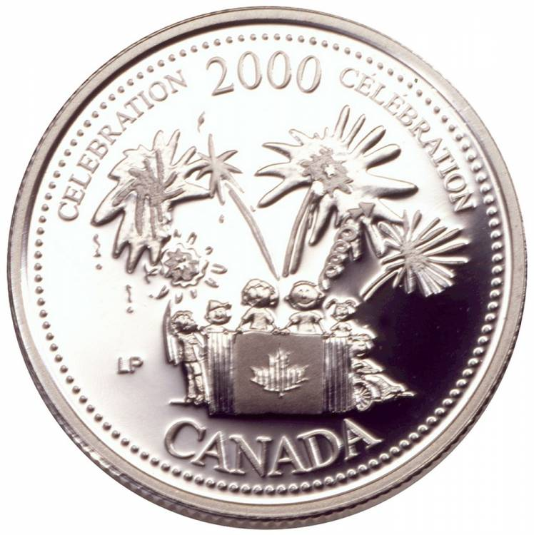 2000 Canada 25 Cents Sterling Silver Proof - Celebration