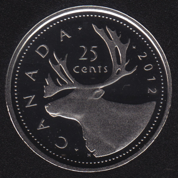2017 - Proof - Caribou - Canada 25 Cents