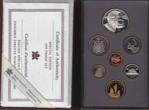 1995 CANADA DOUBLE DOLLAR PROOF SET RED CASE
