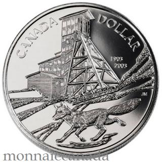 2003 - Brillant Uncirculated Silver Dollar - Cobalt - No Tax