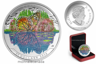 2016 - $20 - 1 oz. Fine Silver Coloured – Landscape Illusion: Butterfly