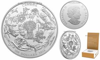 2016 - $200 - Fine Silver Coin – Canada's Vast Prairies