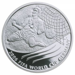 2006 - $5 -  FIFA Wold Cup Commemorative Silver coin