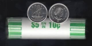 2014 Canada Roll 10 Cents - 50 Coins - UNC
