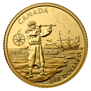 2015 - $200 - Pure Gold Coin - Henry Hudson