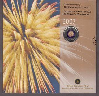 2007 - 25 Cents Coloured - Gift set Congratulations