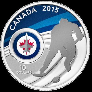 2015 - $10 - 1/2 oz. Fine Silver Coin - Winnipeg Jets™