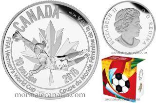 2015 - $10 - 1/2 oz. Fine Silver Coin - FIFA Women's World CupTM/MC : The Goalie