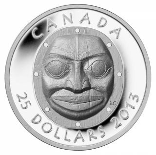 2013 - $25 - Fine Silver Ultra High Relief Coin - Grandmother Moon Mask