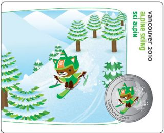 2010 - 50 Cents - Vancouver – Paralympic Alpine Skiing Mascot Collector Card