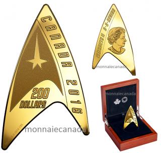 2016 - $200 - Pure Gold Coin – Star TrekTM: Delta Coin