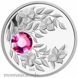 2012 - $3 - October Birthstone (Tourmaline) - Fine Silver Coin