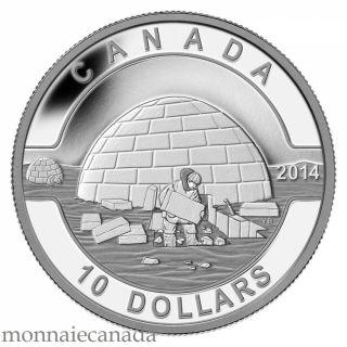 2014 - $10 - 1/2 oz. Fine Silver Coin - O Canada - Igloo