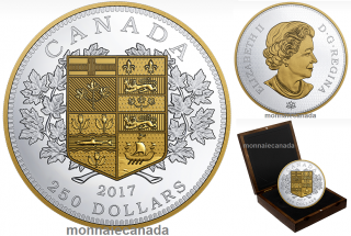 2017 - $250 - One Kilogram Pure Silver Coin - A Tribute to the First Canadian Gold Coin