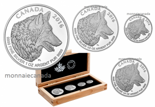 2016 - Fine Silver Fractional 4-Coin Set – The Wolf