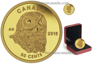 2015 - 50 Cents - 1/25 oz. Pure Gold Coin - Snow Owl