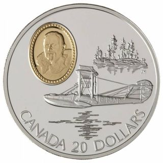 1994 Canada $20 Dollars Sterling Silver - Powered Flight - Curtiss HS-2L