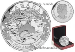 2015 - $10 - 1/2 oz. Fine Silver - Canoe Across Canada - #2 Splendid Surroundings