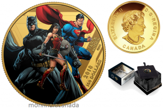 2018 - $100 - 14-Karat Gold Coin - The Justice LeagueTM: United We Stand