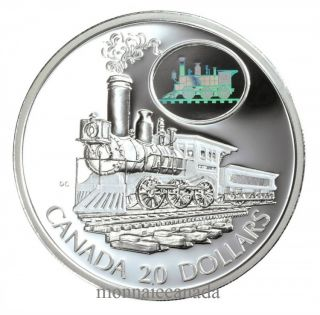 2001 - $20 - Transport - Locomotive - La Scotia -  Épreuve numismatique en Argent Sterling