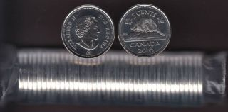 2016 Canada 5 Cents - BU ROLL 40 Coins - UNC