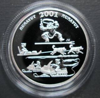 2001 Canada 50 Cents Sterling Silver - Nunavut Toonik Tyme