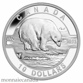 2013 - $10 1/2 oz Fine Silver Coin - The Polar Bear