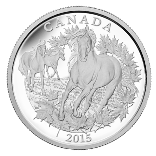 2015 - $125 - 1/2 Kilogram Fine Silver Coin – Canadian Horse