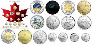 2017 Canada 150 Circulation 12-Coin Collection set