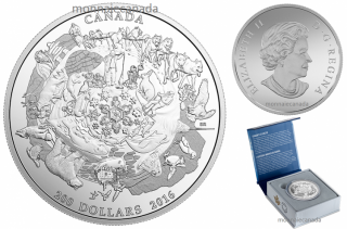 2016 - $200 for $200 - Fine Silver Coin - Canada's Icy Arctic