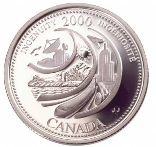 2000 Canada 25 Cents Sterling Silver Proof - Ingenuity
