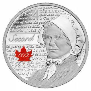 2013 -  Canada $4 Laura Secord War of 1812 Fine Silve