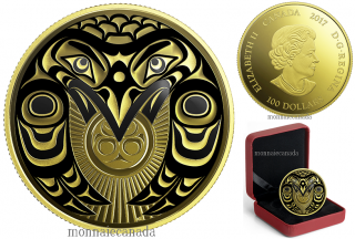 200 - $100 - 14-karat Gold Coin - Raven Brings the Light