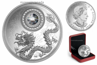 2016 - $5 - Fine Silver Coin made with Swarovski® Crystal - Birthstone - April