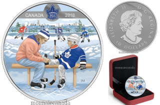2018 - $10 - Pure Silver Coloured Coin - Learning to Play: Toronto Maple Leafs®