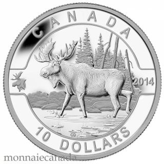 2014 - $10 - 1/2 oz. Fine Silver Coin - O Canada - The Moose