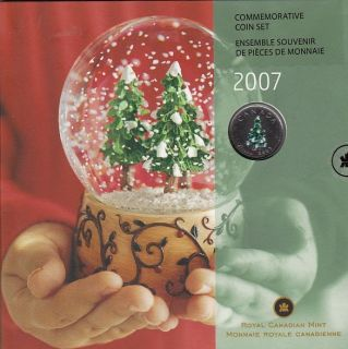 2007 - Holiday Gift Set with Colorized 25 Cents (Christmas Tree)