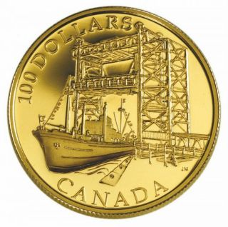 2004 - $100 - 14K Gold Coin - 50th Anniv. Start of Construction St.Lawrence Seaway