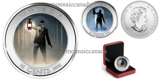 2015 - 25¢  - Haunted Canada: Brakeman