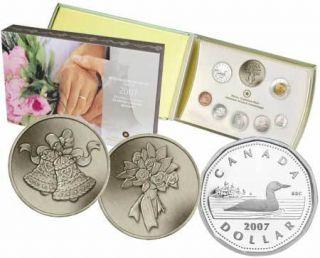2007 Silver Dollar Wedding Proof Set