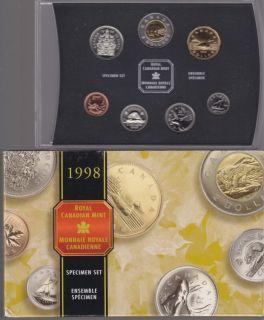1998 CANADA SPECIMEN SET  - 7 COINS SET - ORIGINAL RCM MINT