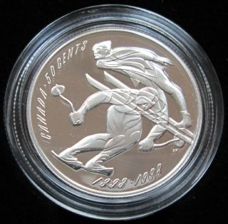 1998 CANADA 50 Cents Sterling Silver - Ski Running/Jumping Champ.