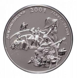 2001 Canada 50 Cents Sterling Silver - Newfoundland & Labrador Folk Festival
