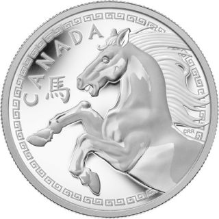 2014 - $250 - Fine Silver One Kilogram Coin - Year of the Horse