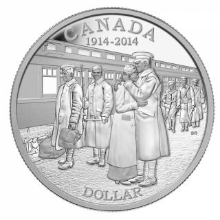 2014 - Proof Fine Silver Dollar - 100th Anniversary of the Declaration of the First World War