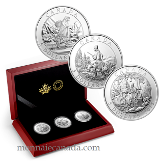 2015 - $5 - Fine Silver 3-Coin Set – Artwork by Cornelius Krieghoff