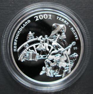 2001 Canada 50 Cents Sterling Silver - Newfoundland and Labrador Folk Festival