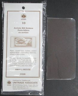 Acetate Bill Holders Small - PACKAGE OF 10