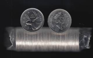 1996 Canada 25 Cents - BU ROLL 40 Coins - UNC